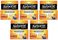 5 Pack Airborne Effervescent Health Formula Tablets, Orange-10 count Each
