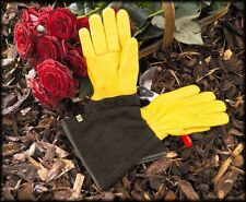 Gold Leaf Tough Touch Gardening Gloves GENTS FIT Leather Gardening Gauntlets