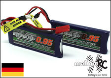 2x Turnigy nano-tech 950mah 1S 25~50C Lipo Akku NEU OVP 3,7V Walkera V120 X100