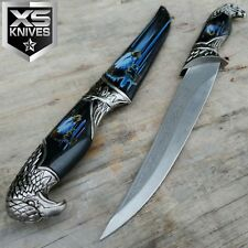 "13"" EAGLE HEAD Dagger Collectors Hunting Knife Decorative Sheath 440 STEEL Gift"