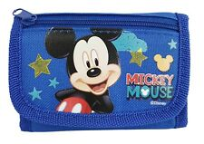 BRAND NEW DISNY TRIFOLD MICKEY MOUSE  BLUE WALLET FOR KIDS