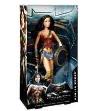 "Wonder Woman Barbie Doll 12"" Mattel Collector Ed Batman v Superman Comics DC"