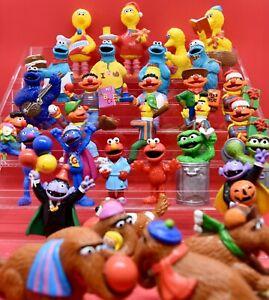 Vintage Sesame Street PVC Figurines - 80s Toys - FREE Shipping