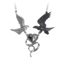 GENUINE Alchemy Gothic Pendant – Epiphany Of St. Corvus | Ladies Raven Necklace