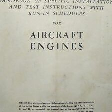 1944 Test & Run in Schedules for Aircraft Engines Manual