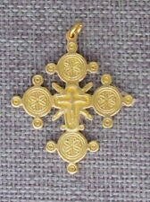"Old Hutsul 3D Cross Pendant, Regular Brass, 1 1/2""X 1"", Crucifixion #2"