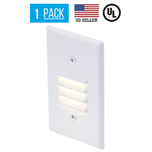 2.5W LED VERTICAL LOUVERED STAIR STEP LIGHT, WATERPROOF, 3000K, WHITE