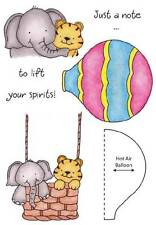 INKY ANTICS HoneyPop Clear Stamps BALLOON BUDDIES A Note To Lift Your Spirits