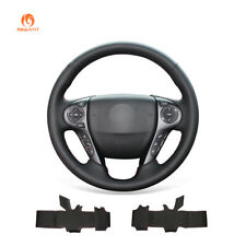 Hand Stitch Black Leather Steering Wheel Cover Wrap for Honda Accord 9 Crosstour