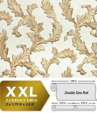 EDEM 9010-30 Blumen Tapete Barock glänzend creme weiß gold 10,65 m2