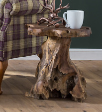Rustic Side Table Living Room Furniture Wooden End Coffee Small Plant Lamp Stand