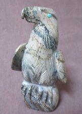 Zuni Serpentine Eagle by Michael LaWeka signed - C0527