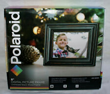 "Polaroid 8"" Digital Picture Frame Distressed Black Wood Frame PDF-800DB"