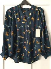 BNWT Zara Blouse With Insect Print Size XS