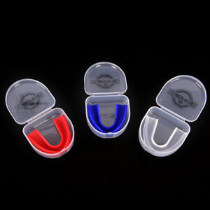 CLEAR Gum Shield Teeth Protector Mouth Guard Piece Rugby Football Boxing B`ju