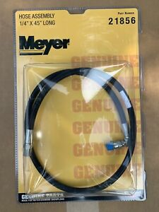 "New Genuine Meyer 21856 Snowplow Hydraulic Hose Assembly 1/4"" X 45"""