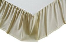 "Summerhill Chambray Creme Solid King Bed Skirt 16"" Drop Gathered"