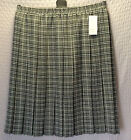 NEW WOMENS LADIES PLUS SIZES BOX PLEAT TARTAN CHECKED ELASTICATED LINED SKIRT