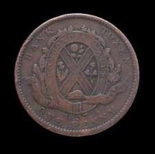 1837 Canada Bank Token one penny, Bank of Montreal
