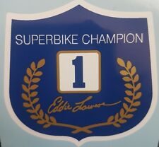 KAWASAKI Z1100 EDDIE LAWSON TANK TOP #1 WORLD CHAMPION SHIELD