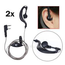2PC 2Pin Security Air Tube Headset Earpiece Earphone Mic for Walkie Talkie Radio