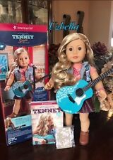 American Girl Doll Tenney Grant with Pierced  and Accessories Guitar NEW