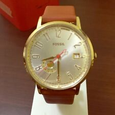 Fossil ES3750 Vintage Muse Silver Dial Tan Leather Strap Women's Watch