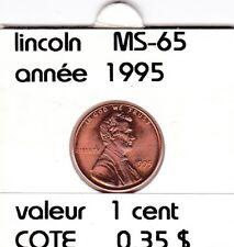 e2 )pieces de 1 cent  1995       lincoln