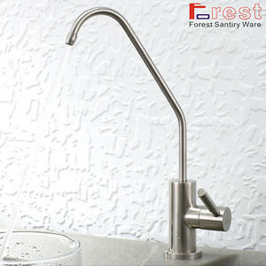 304 Stainless Steel Drinking Water Filter Tap Single Lever Brushed Nickel Faucet