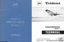 HS.121 Trident Hawker Siddeley HS 121 Manual Archive 1960's period HISTORIC BAE