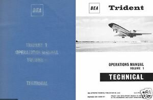 HS.121 Trident Hawker Siddeley HS-121 Manual Archive 1960s historic period Jet