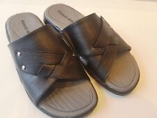 MENS  slip on cushioned  comfortable  black  holiday summer mule sandals size 8