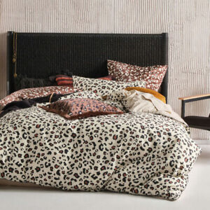 Linen House Ayanna Cinnamon Doona Quilt Cover Set Queen, King, Super King Sizes