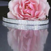 15Ct Brilliant Princess Cut Diamond 14k White Gold Over Tennis Bracelet