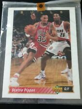 "1993 Upper Deck Authenticated Scottie Pippen Card #133 8 1/2"" x 11"" Jumbo Card"