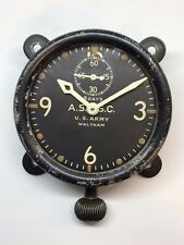 WW1 Army Waltham XA Aviation Section Signal Corps Military 8-Day Aircraft Clock
