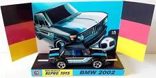 Hot Wheels 1:64 1970's Black BMW 2002 on Custom Repro Display Base