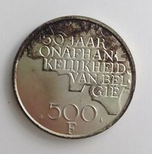 Monnaie Pièce 500 francs 1830 1980 Belgique