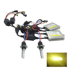 Front Fog Light H11 Canbus Pro HID Kit 3000k Yellow 35W Fits Peugeot RTHK1554
