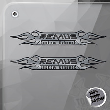 PEGATINA REMUS CUSTOM EXHAUST DECAL STICKER AUFKLEBER AUTOCOLLANT