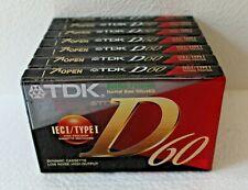 Cassette ~  Lot de 7 TDK D60 (K7 neuve & scellée)