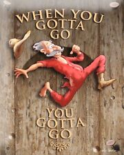 WHEN YOU GOTTA GO YOU GOTTA GO TOILET LOO BATHROOM METAL PLAQUE TIN SIGN 542