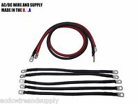 # 2 Awg HD Golf Cart Battery Cable 7 pc Set Club Car 48 Volt Wire Kit U.S.A MADE