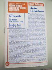 Oldham V Hartlepool    1968/9
