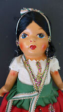 "Old vintage Mexico Mexican Early California doll 8"" tall"