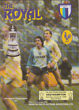 Football Programme>READING v SOUTHAMPTON Jan 1988 FAC