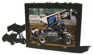 Sprint car black metal 8x10H picture frame