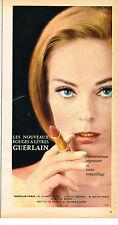 PUBLICITE  1966   GUERLAIN  cosmétiques des lèvres