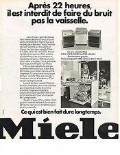 PUBLICITE ADVERTISING   1973   MIELE   lave vaisselle
