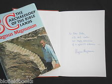 SIGNED: Magnus Magnusson - BC; The Archaeology of the Bible Lands - 1977-1st HB